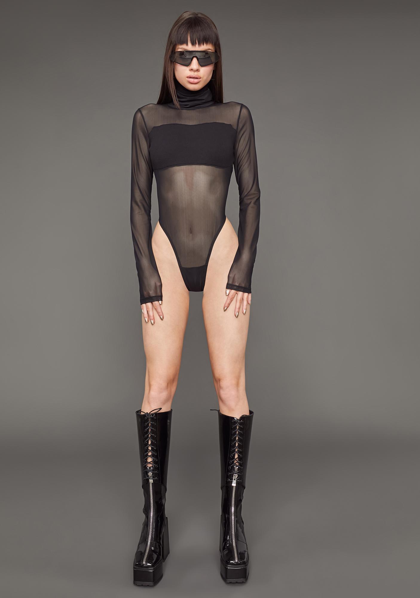 Poster Grl Figure Me Out Mesh Bodysuit