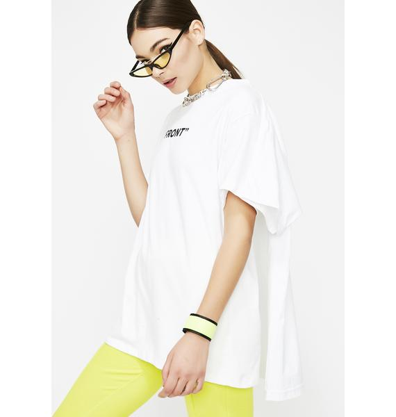 Don't Front Double Layered Tee