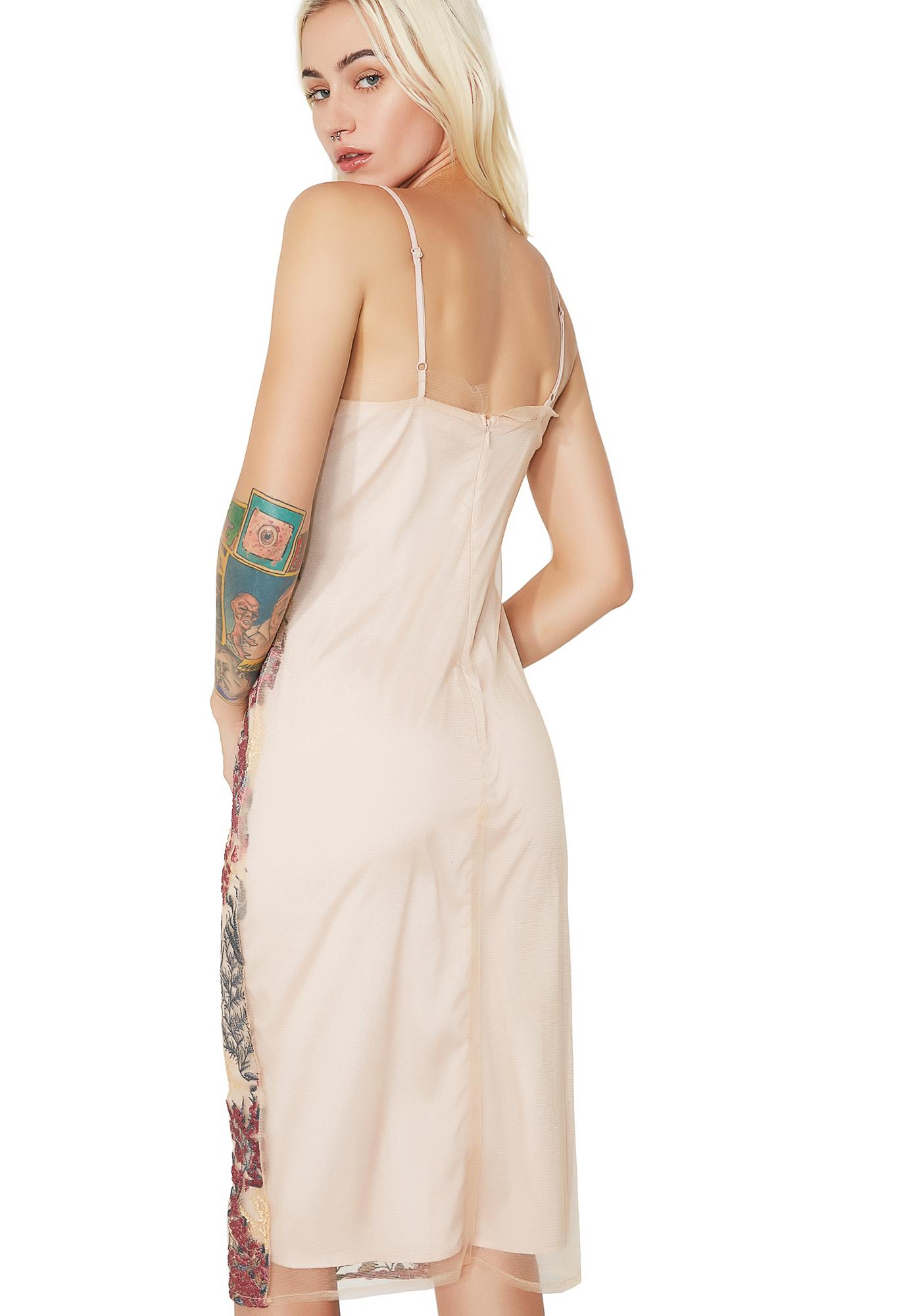 Loralyn Embroidered Slip Dress