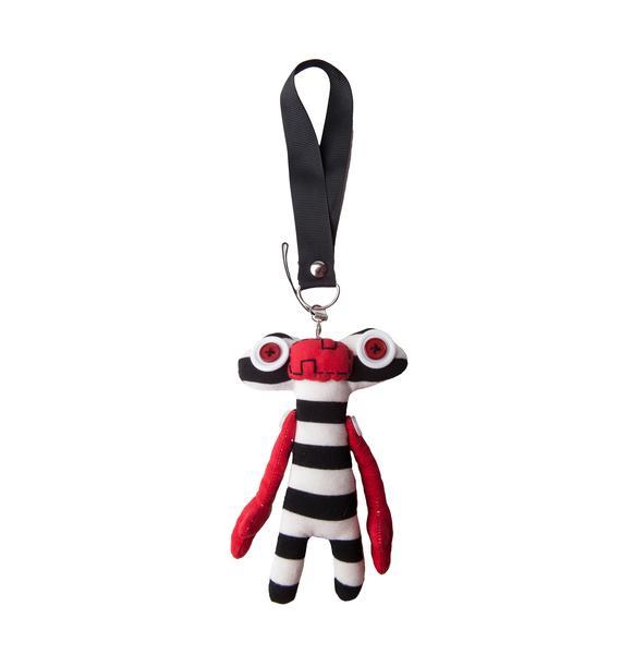 VooDoo Striped Alien Plushie Keychain