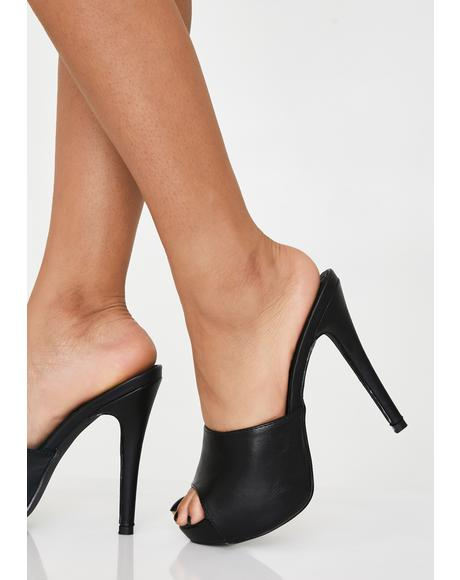 Library Is Open Peep Toe Heels