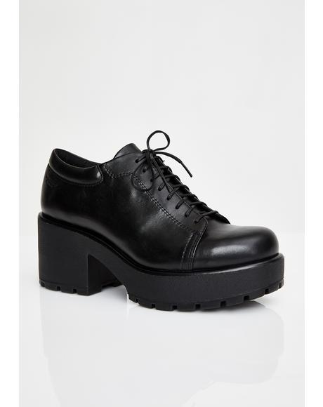 Dioon Leather Ankle Oxfords
