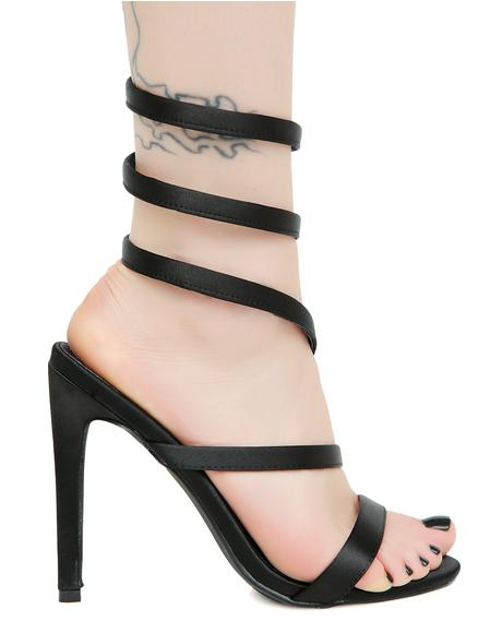 Dark Sinister Slither Wrap Heels