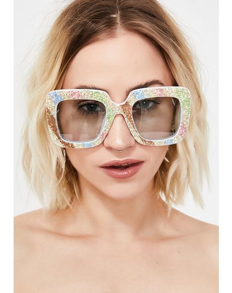 Pure Sparkle Funk Square Sunglasses