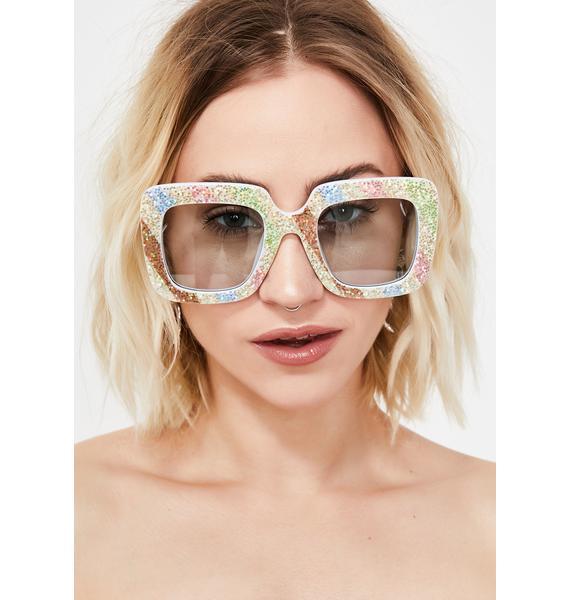 Pure Sparkle Funk Square Sunglasses