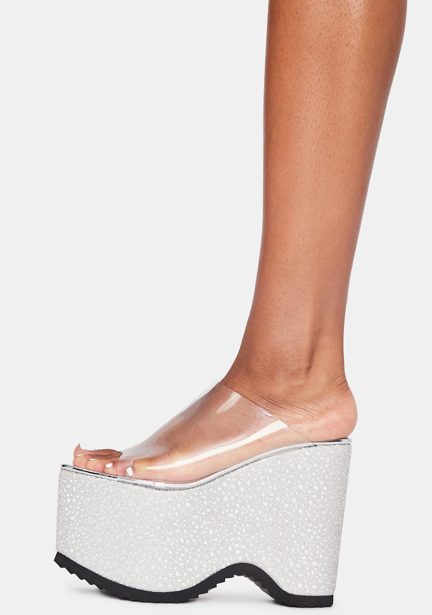 Lemon Drop by Privileged Silver Leanne Platform Sandals