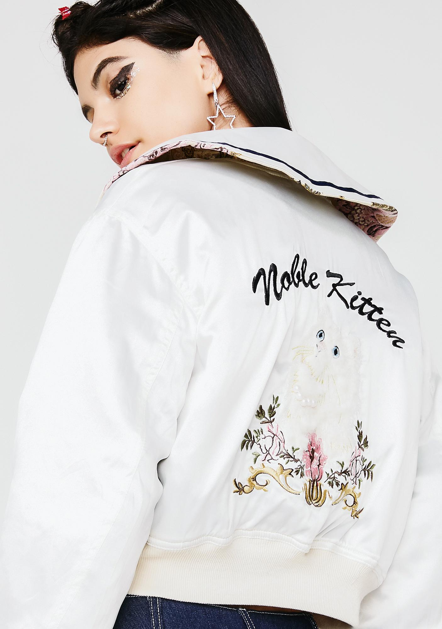 one spo Noble Kitten Reversible Blouson