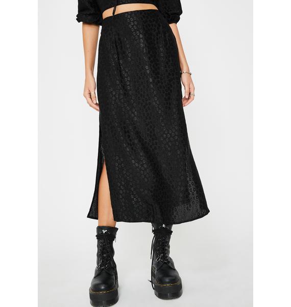 Motel Black Tindra Midi Skirt