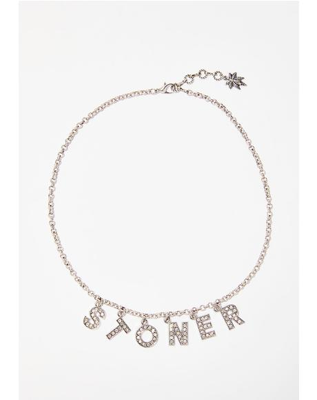 Stoner Spice Rhinestone Necklace