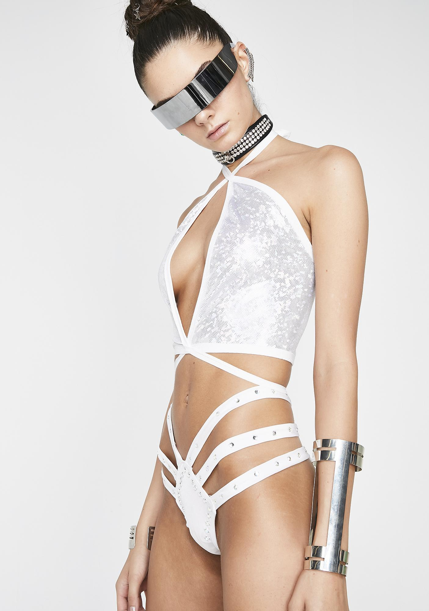The Lyte Couture Silver Lila Top