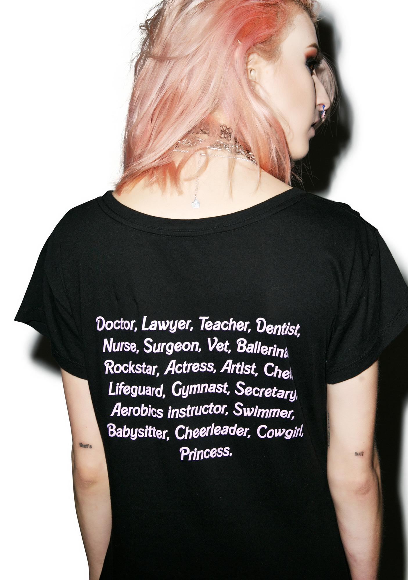 Wildfox Couture My Resume Hippie Crewneck Tee