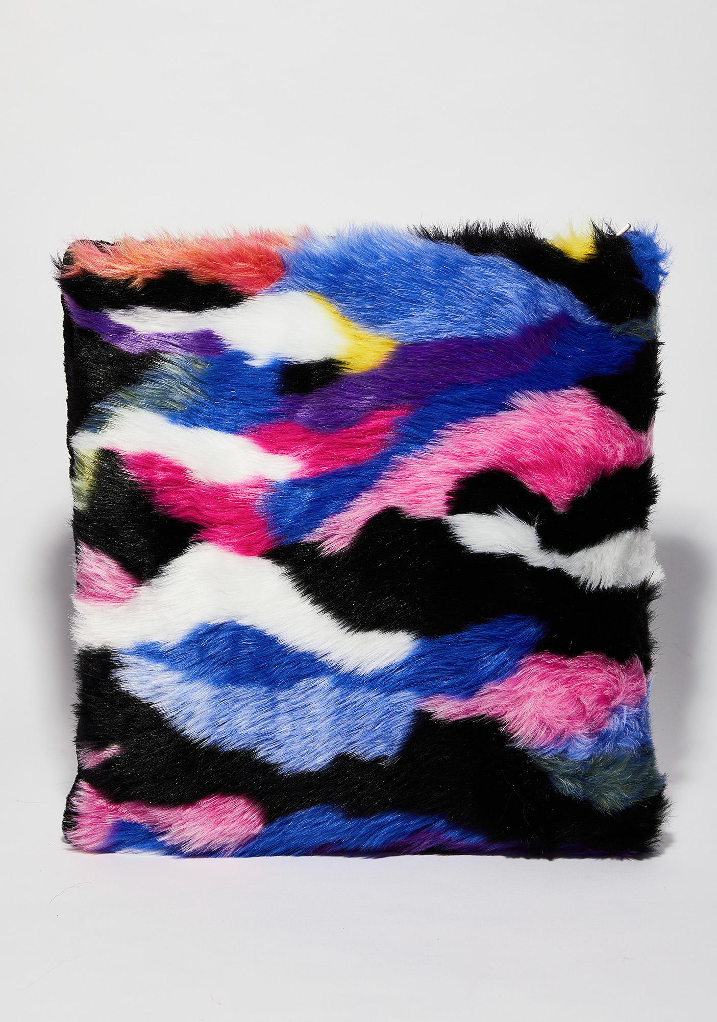 Rainbow Furry Crossbody Purse   Dolls Kill 8fddf52f17