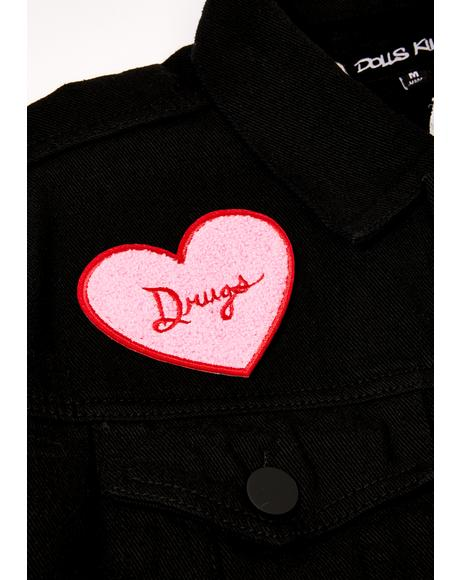 Drugs Chenille Iron On Patch