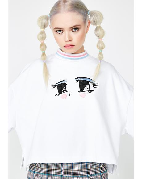 Eyes Crop Sweatshirt
