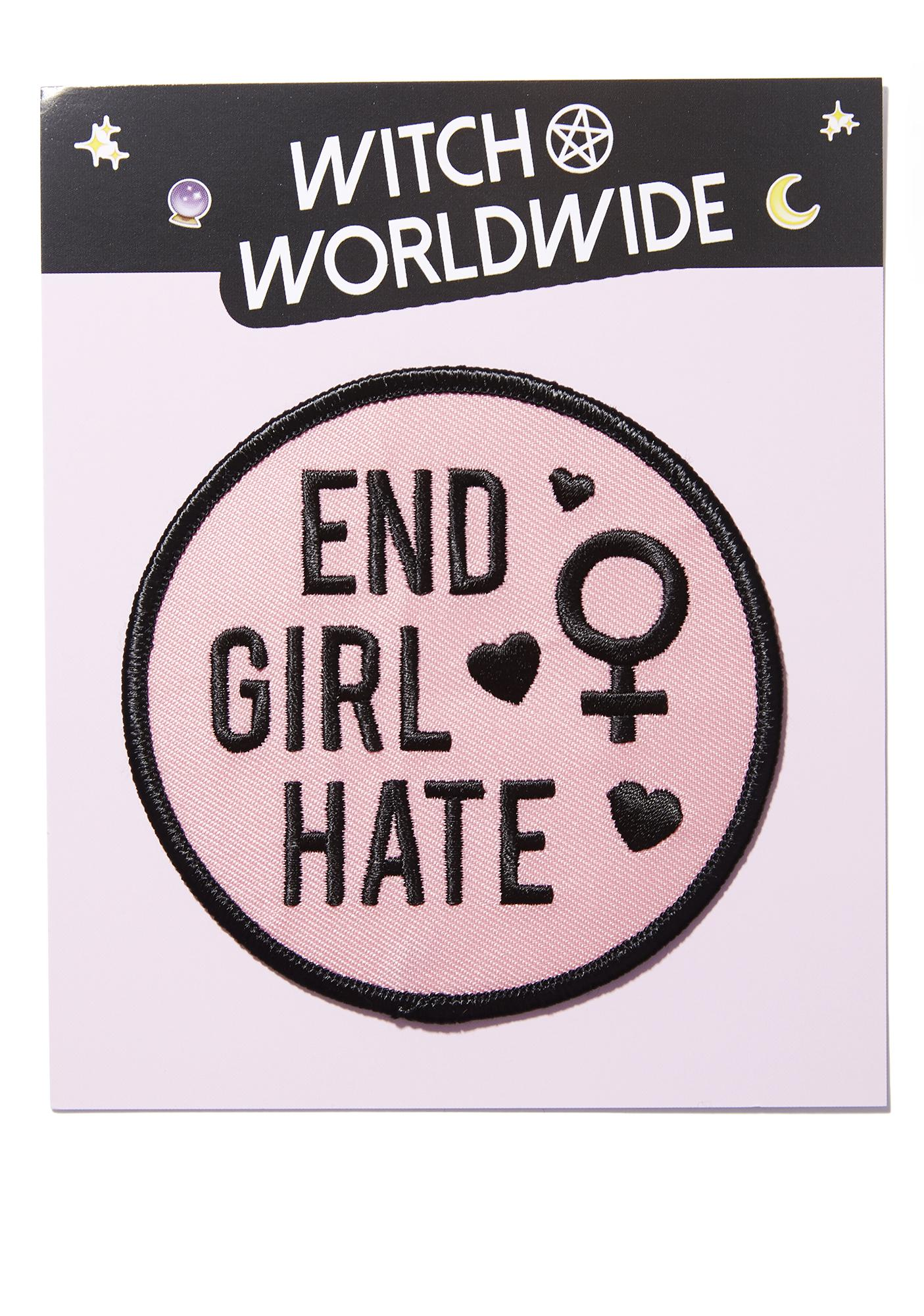Witch Worldwide End Girl Hate Iron-On Patch