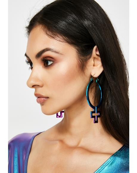 Empress Of Me Hoop Earrings