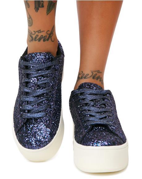 Navy Shimmer Shock Glitter Sneakers