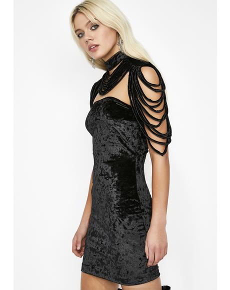 Different Vibe Velvet Dress