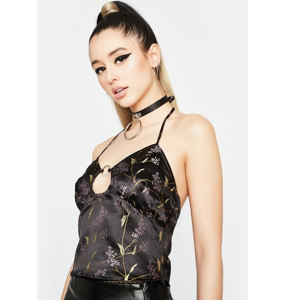 Pleasure N' Pain Brocade Top