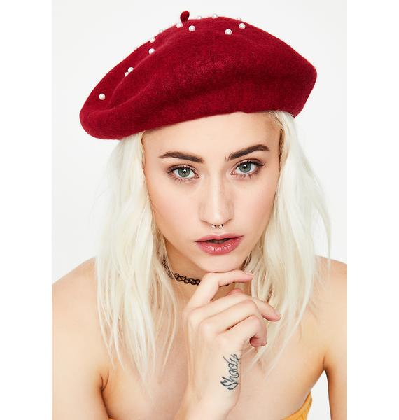 Clutch My Pearls Beret