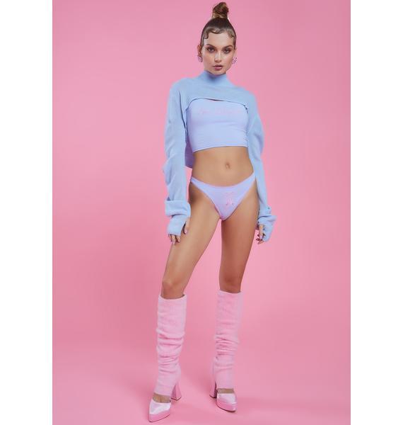 Sugar Thrillz Cold Shoulders Turtleneck Shrug Sweater