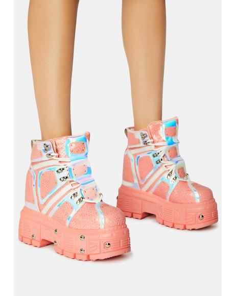 Pink Mangosteen Sneakers