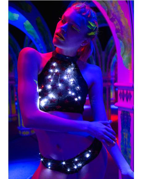 Star Odyssey Light-Up Halter Top