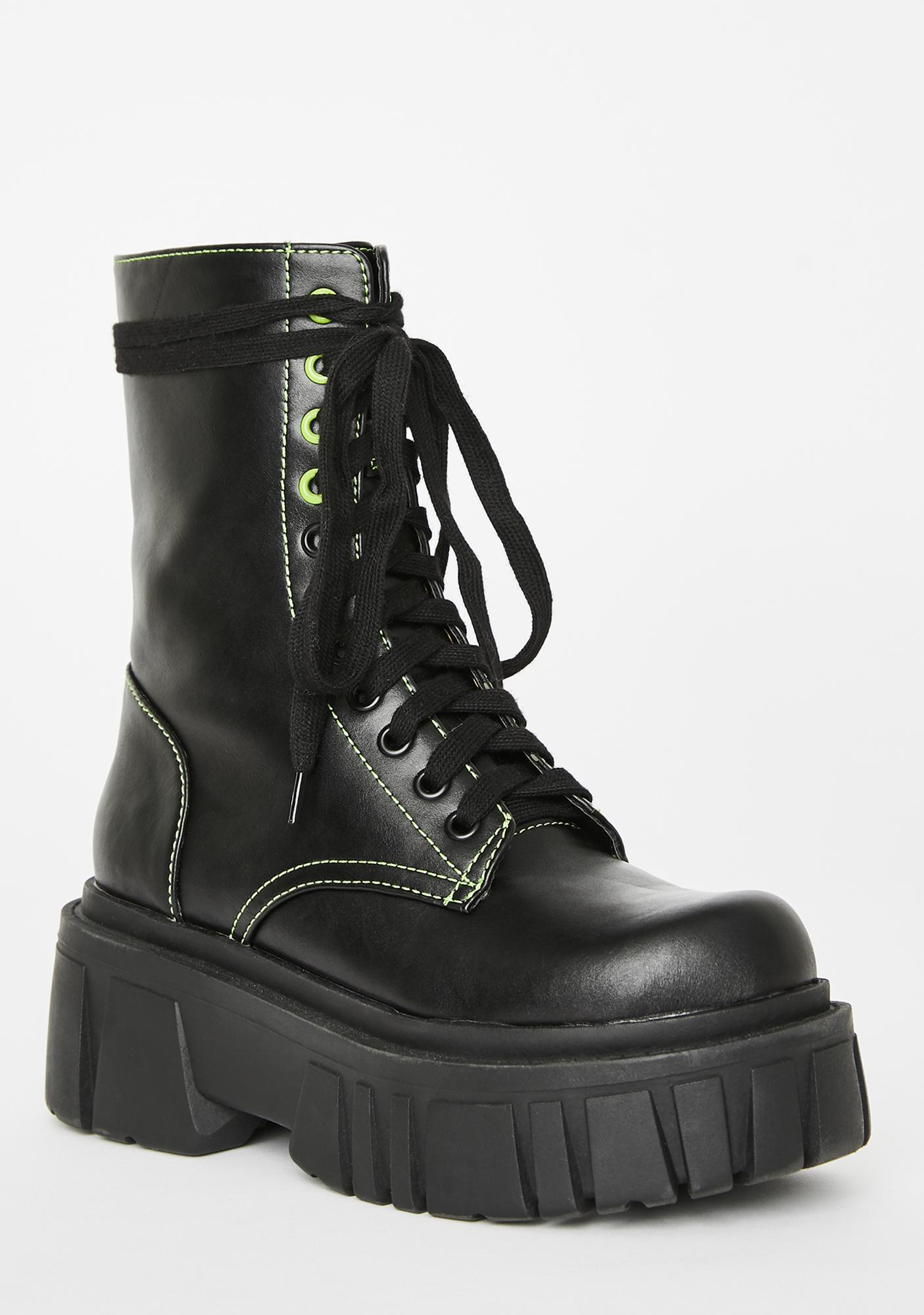 HOROSCOPEZ Brutal Youth Lace Up Boots