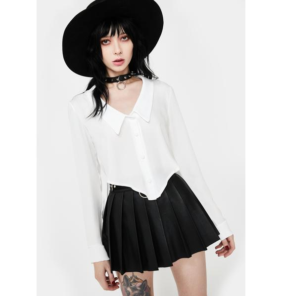 Another Reason Collared Button Up Blouse