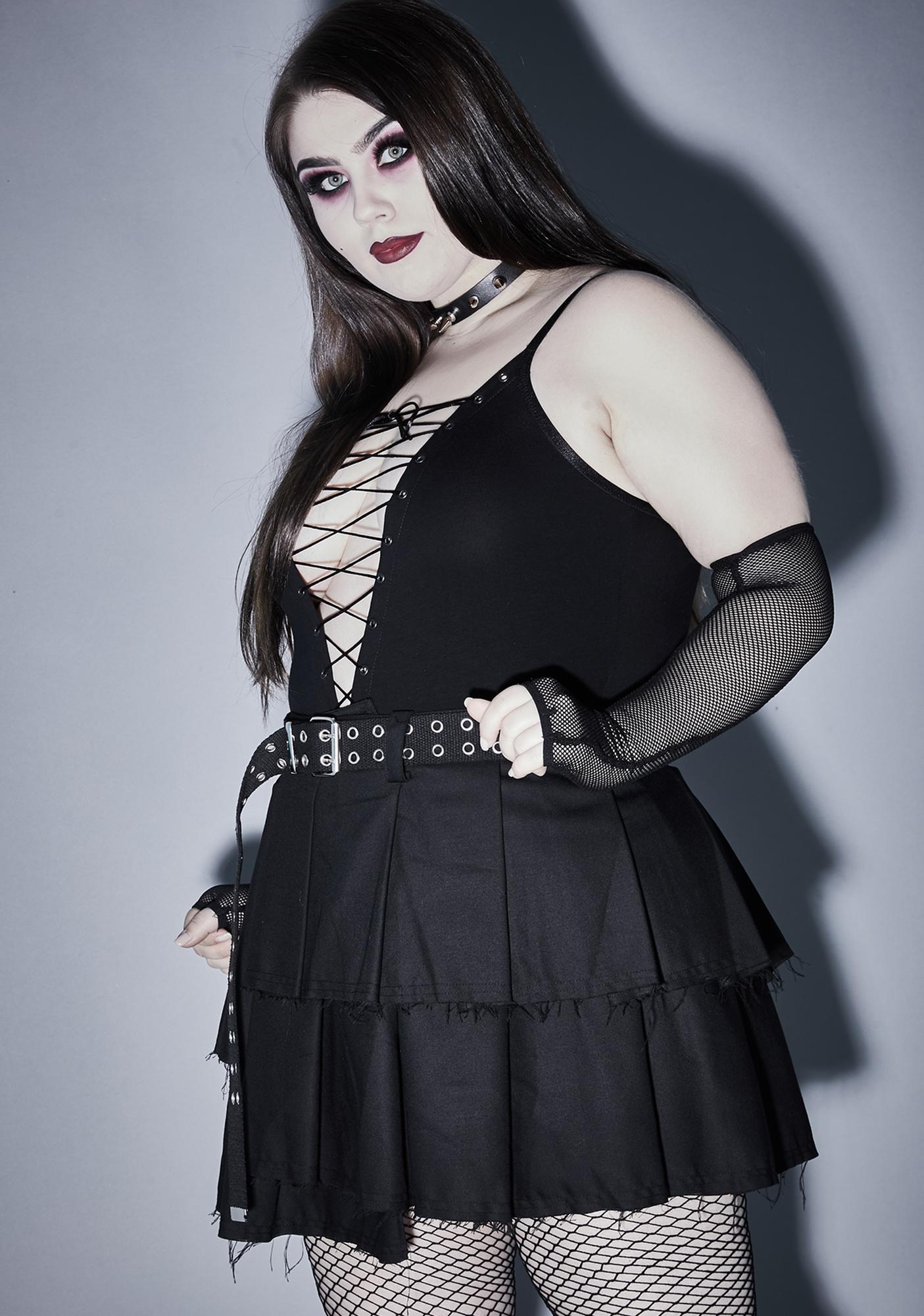 Widow Infernal Vicious Mischief Lace Up Bodysuit