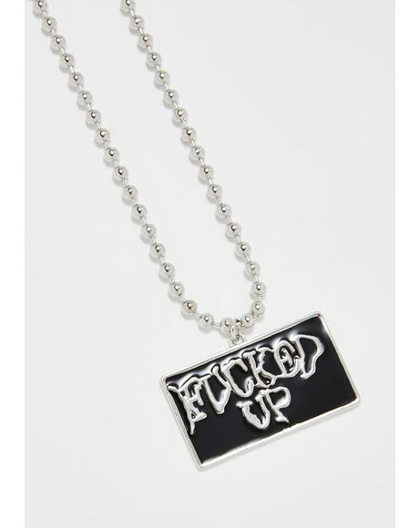 Zip Ur Lip Chain Necklace