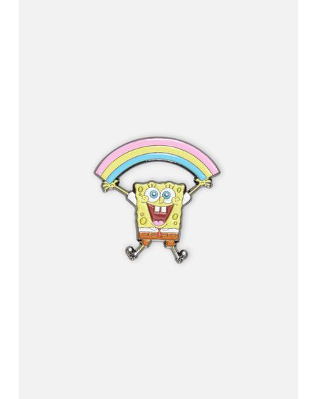 Spongebob Rainbow Enamel Pin