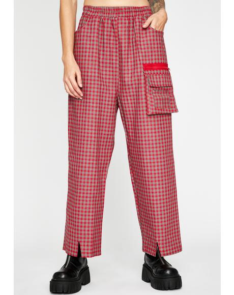 Fire Hard News Plaid Pants
