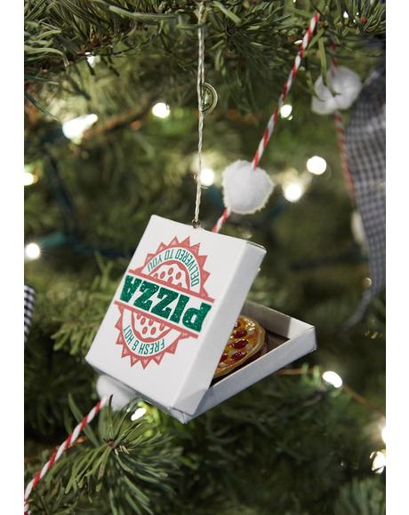 Hot N' Fresh Pizza Delivery Ornament