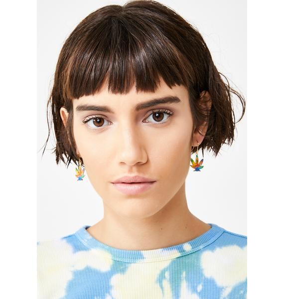 Stay Trippin' Leaf Earrings