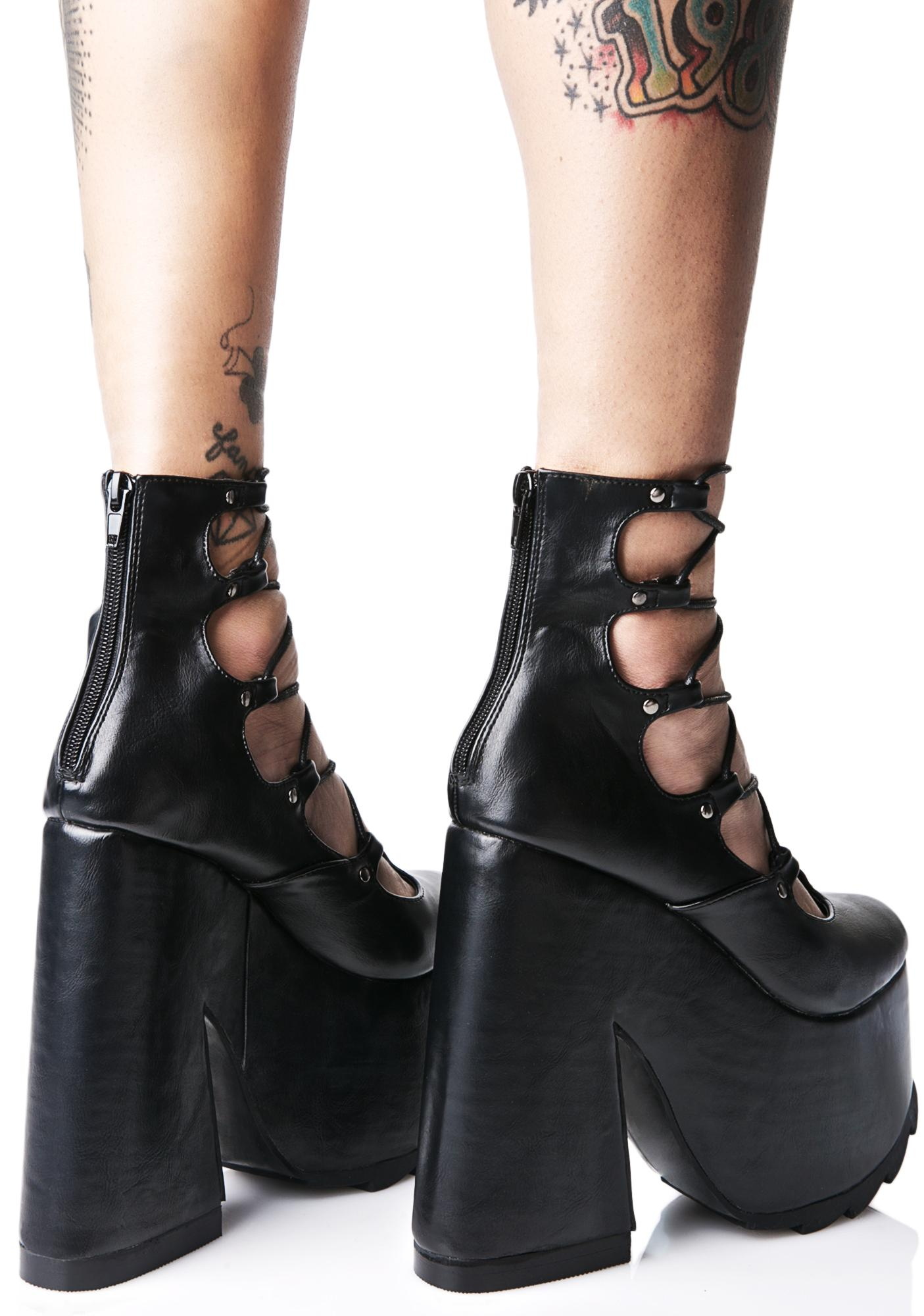 Y.R.U. Lucid Lace-Up Chunky Platforms