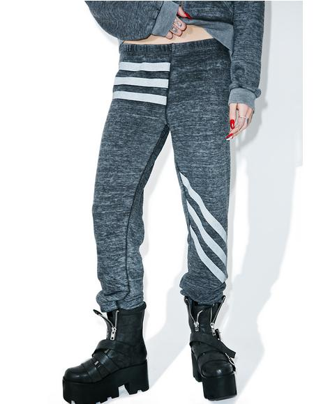 Tri-Stripe Burnout Fleece Bottoms