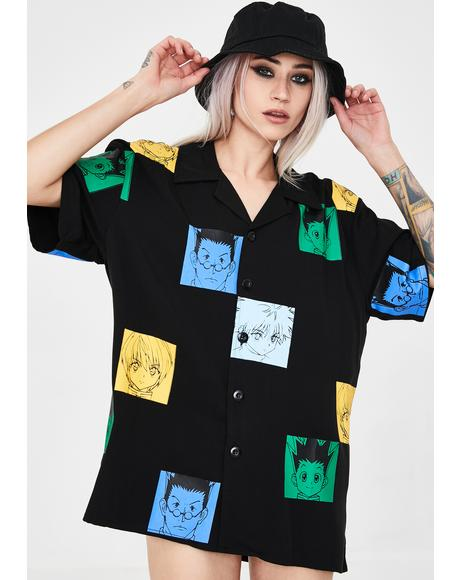 X Hunter x Hunter Color Button Up Shirt