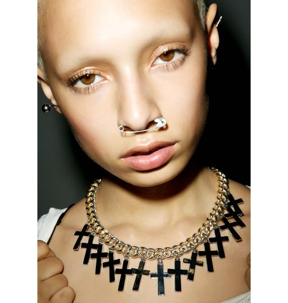 Rock n Rose Overload Cross Necklace