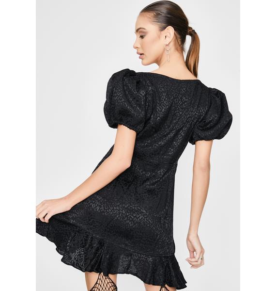 Motel Black Dolly Mini Dress