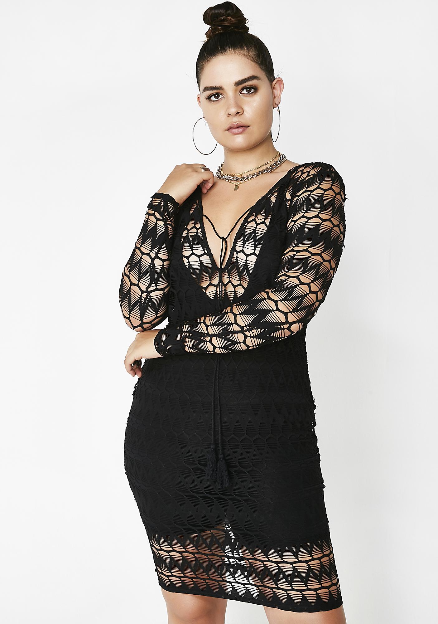 Divine Swag Sheer Dress