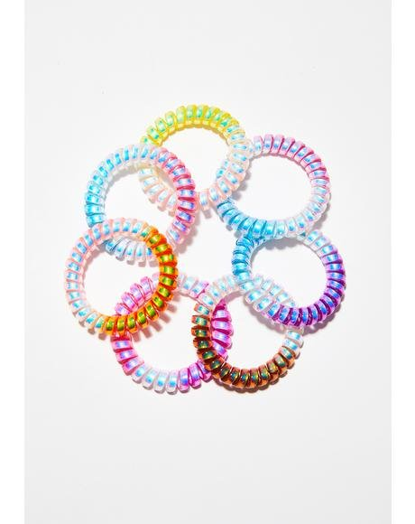 Party World Spiral Hair Bands