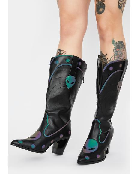 Space Cowgirl Reflective Boots