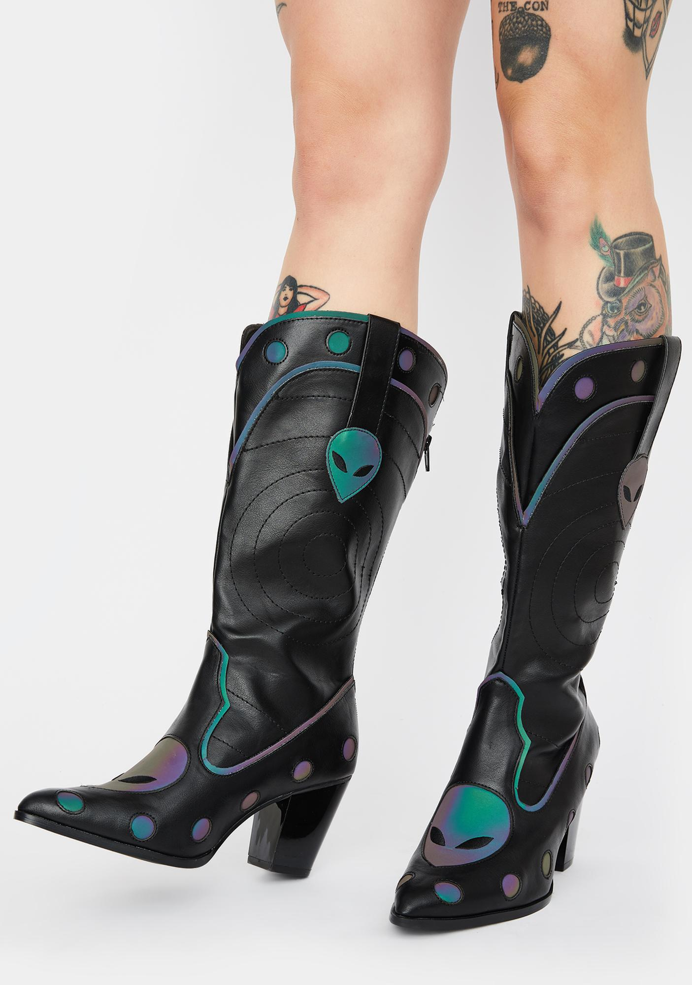 Y.R.U. Space Cowgirl Reflective Boots