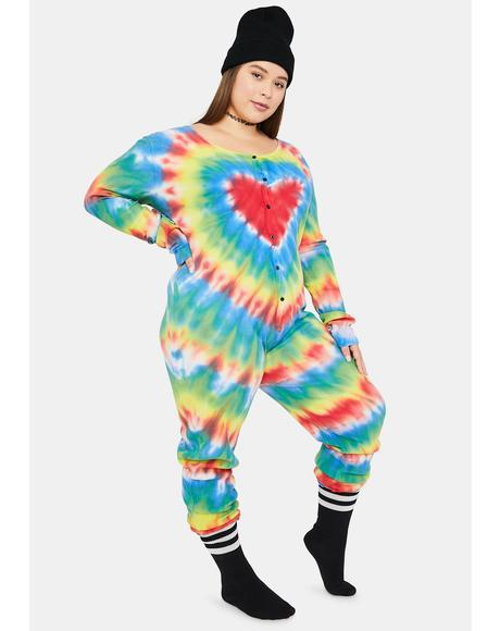 Real Chill In The Air Tie Dye Jumper