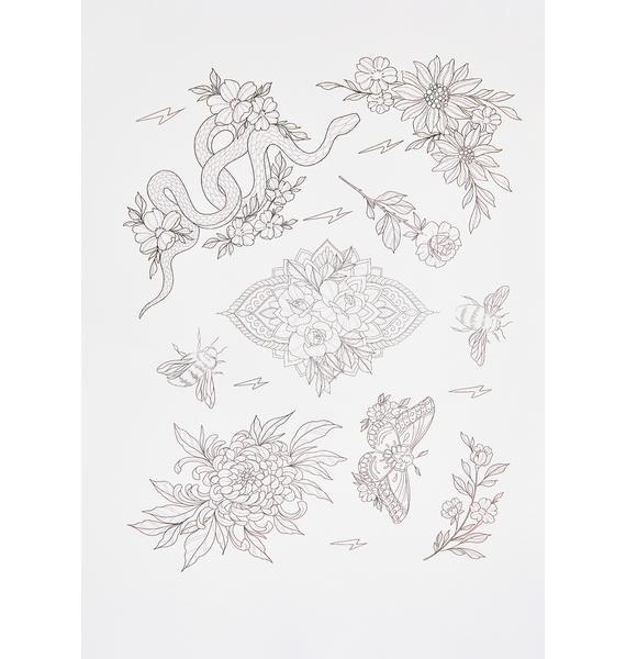 Shrine x Sophie Rimmer Flowers Tattoos