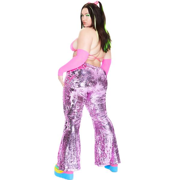 Club Exx Got Hips Like Sugar Sequin Flares