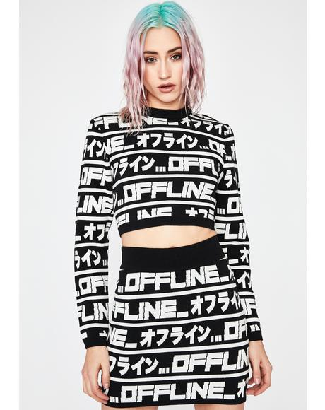 Logged Out Crop Sweater