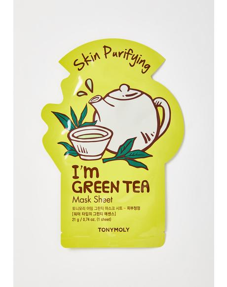 Green Tea I'm Real Sheet Mask
