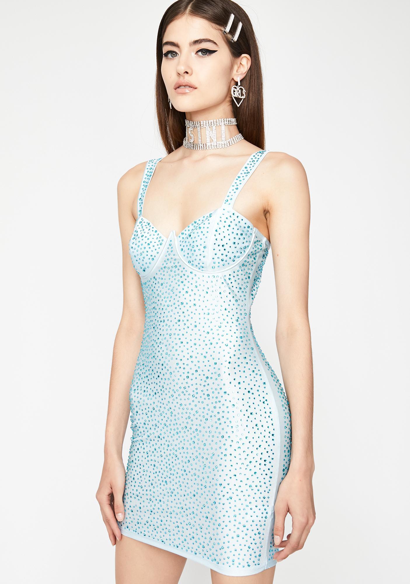 Berry Fab Flare Rhinestone Dress